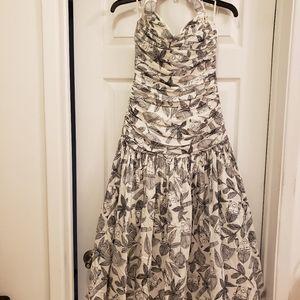Louis Feraud authentic tiki print halter dress